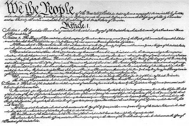La Constitución Americana.
