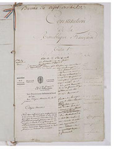 Constitución Francesa del Año VIII.