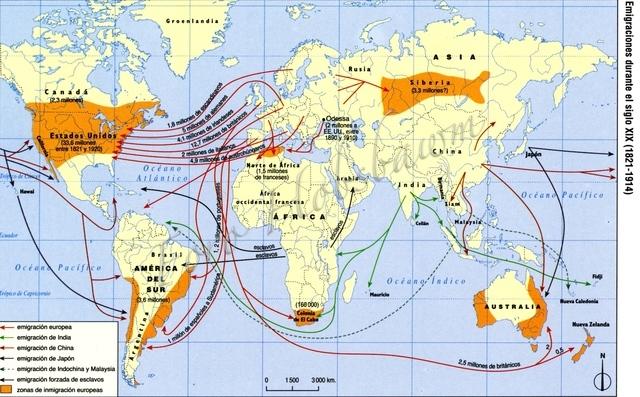Migraciones transoceánicas.