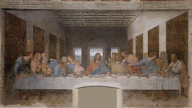 First masterpiece of High Renaissance painting: The Last Supper by Leonardo Da Vinci