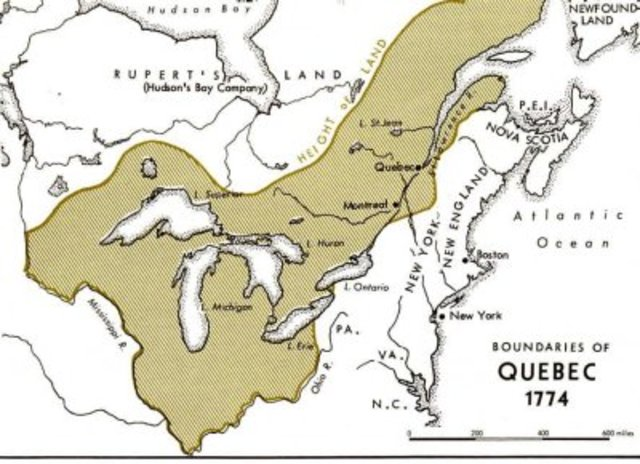 The Quebec Act of 1774 continued