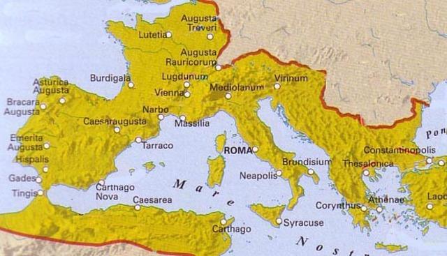 Expansión del cristianismo por Imperio Romano.