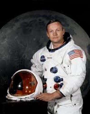Neil Armstrong first man on moon