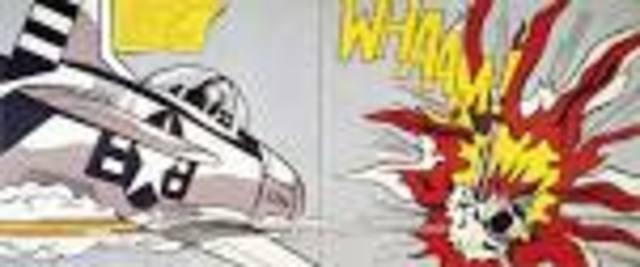 Lichtenstein paints works based on comic book art