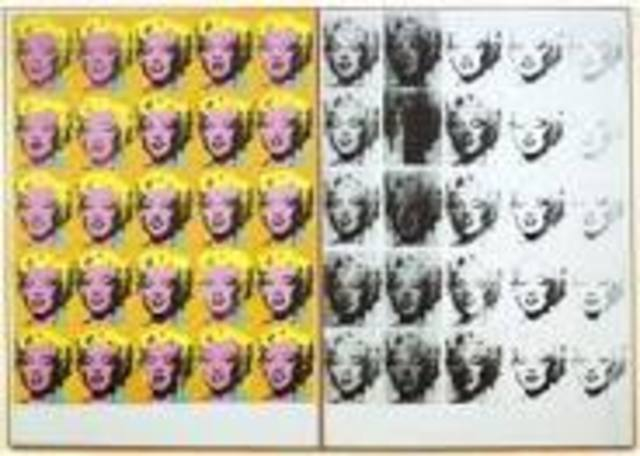 Warhol paints Marilyn Diptych