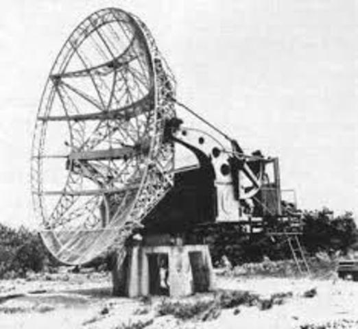 El primer radiotelescopi