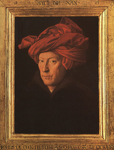Hombre con turbante rojo