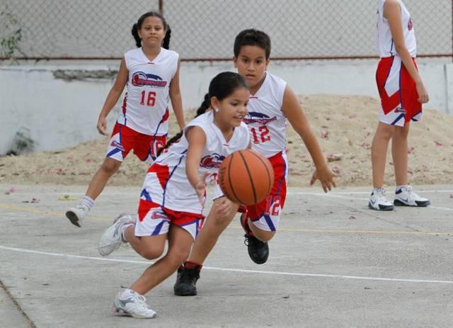 Beth, she was playing basketball.