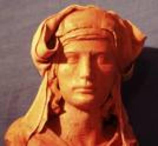 """Mort del trobador Guillem de Cabestany, autor de """"la llegenda del cor trencat""""."""