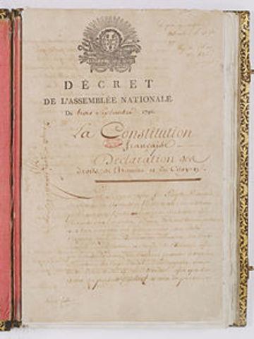 Constitución Nacional de la Primera República en Francia