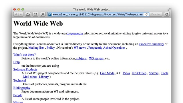 The first web page is born