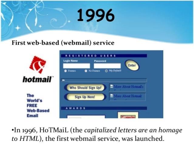 The webmail arrives