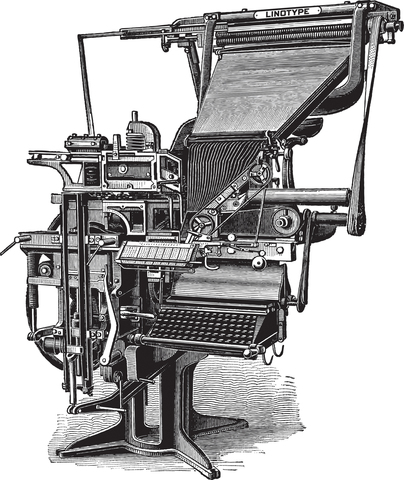 Johann Gutenberg invented the printing technology called movable type machine.