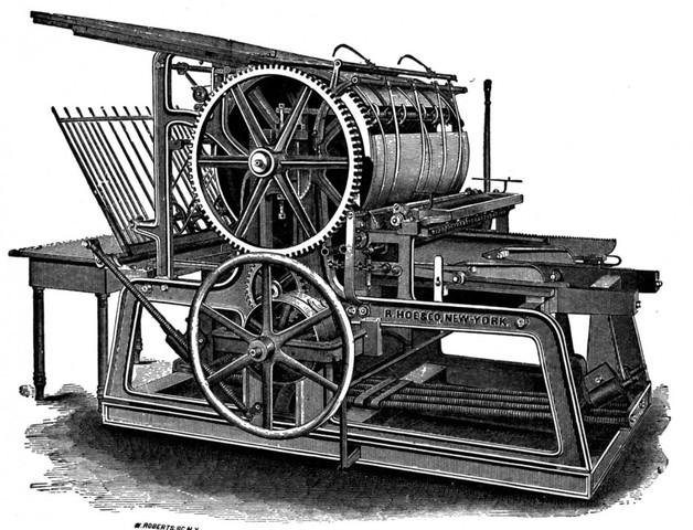 Establishment of printing press , the first medium designed for the masses.