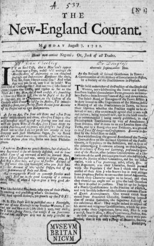 Production of the first newspapers in England that was patronized by the merchants.