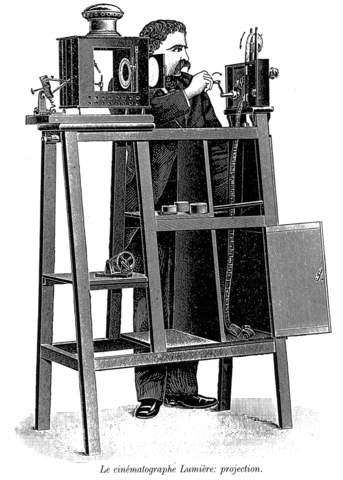Louis and Augusto Lumiere developed the technology of film projectors.