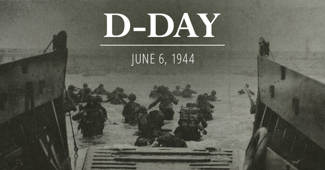 The Allied Forces attack Normandy Beach