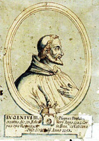 Pope Eugenius III issues Quantum Predecessores