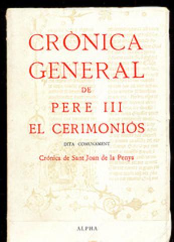 Pere III el Cerimoniós acaba la seva crònica (1383-1387)
