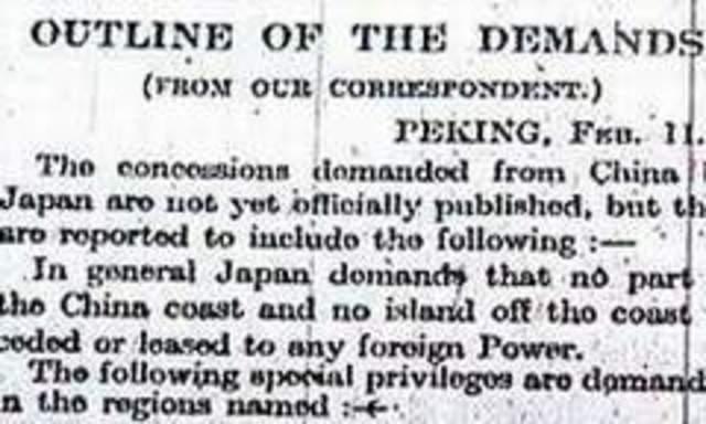 21 Demands to China