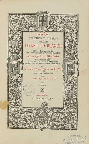 Edició de Tirant lo Blanc, Joanot Martorell