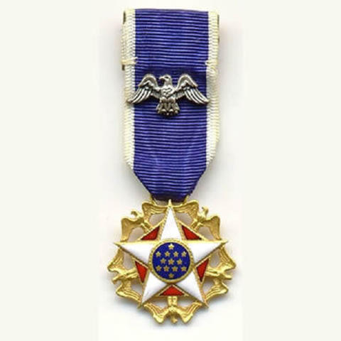 Jackie Robinson receives the Presidential Medal of Freedom