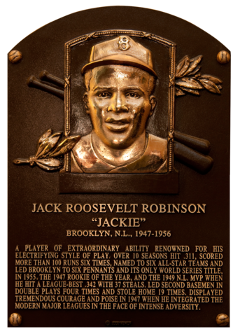 Jackie Robinson gets into the Hall of Fame