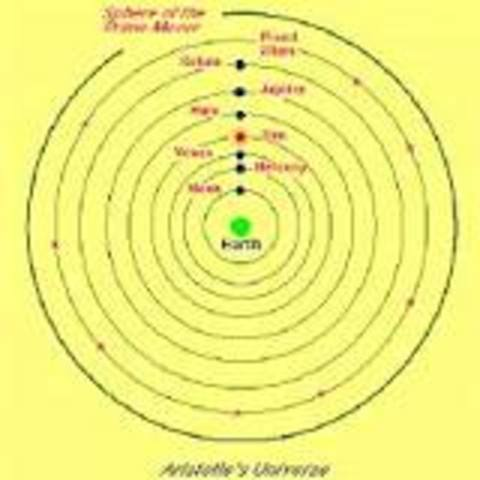 Aristotle explained the geocentric theory.
