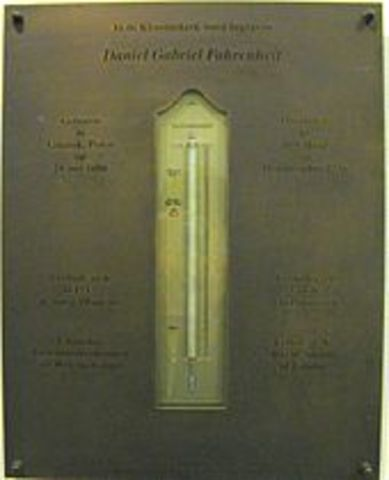 Gabriel Fahrenheit made the first thermometer.