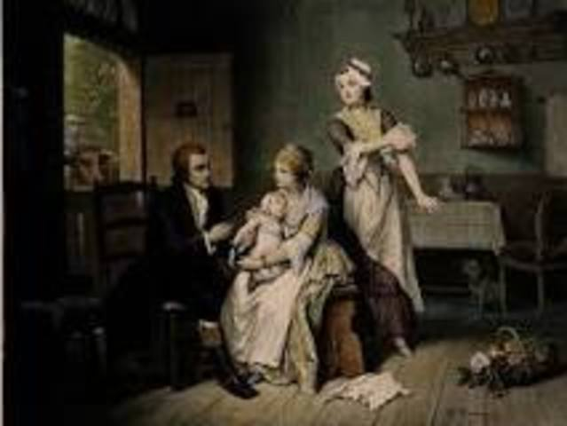 Edward Jenner introduced a vaccine to prevent small pox.