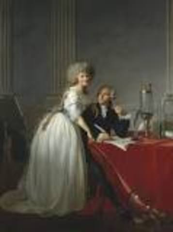 Antoine Lavoisier discovered and named gas oxygen.