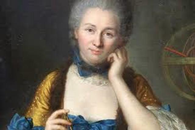 Emilie du Chatalet translated Newton's work from Latin to French.