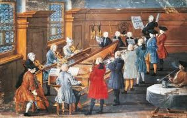 The Baroque period began in art, music, and literature.