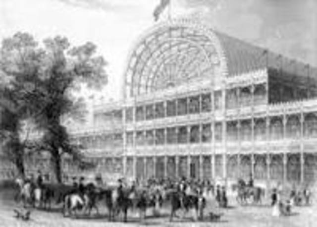 the building of the Crystal palace starts