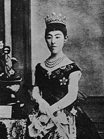 Meiji marries Ichijo Haruko