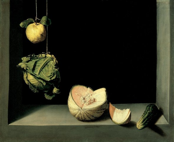 """""""Still Life with Quince, Cabbage, Melon, and Cucumber"""""""