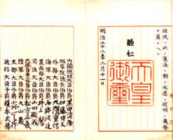 Meiji Constitution is enacted