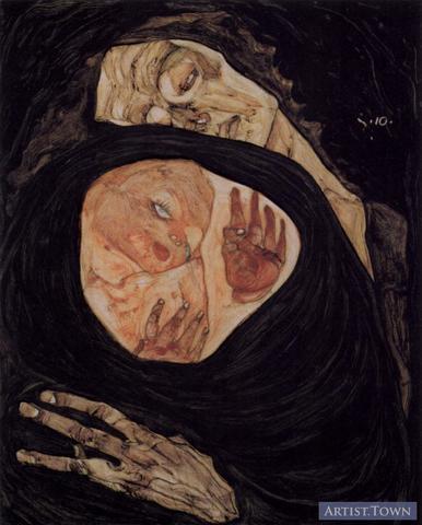 """Egon Schiele's """"Tote Mutter"""""""