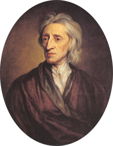 """John Locke explained his theory of """"natural rights""""."""
