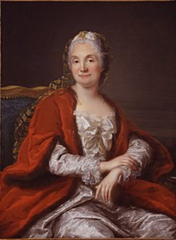 Marie-Therese Geoffrin held her first salon of philosophes.