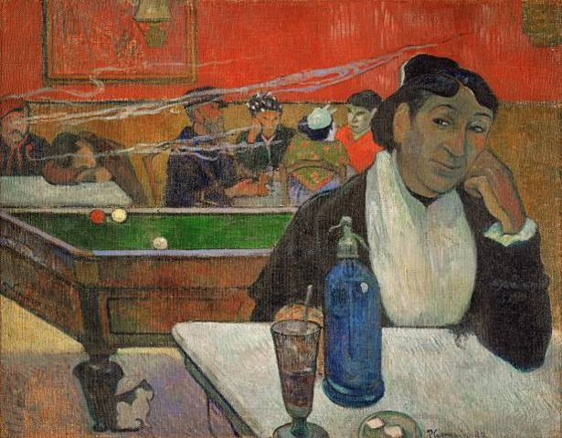 Woman in a coffeehouse, Madame Ginoux in the Cafe de la Gare in Arles