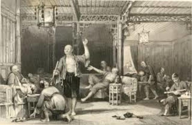 Britain illegally selling opium