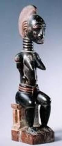 Baule Seated Female Figure