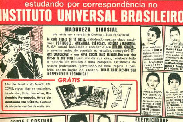 Surge o Instituto Universal Brasileiro,fundado por um ex-sócio do Instituto Monitor.