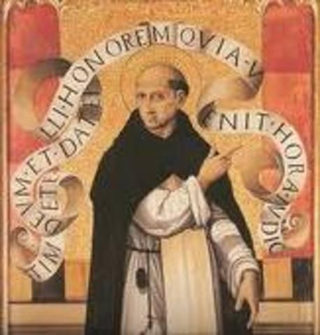 Naixement de Sant Vicent Ferrer (1350-1419)