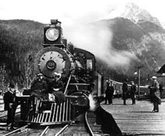 The Canadian Pacific Railway is completed
