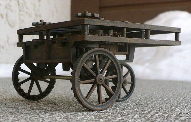 Leonardo Da Vinci invents the first self propelled car
