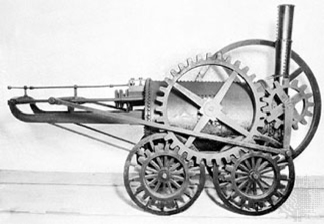 In Great Britain, inventor Richard Trevithick builds a steam powered road carriage.