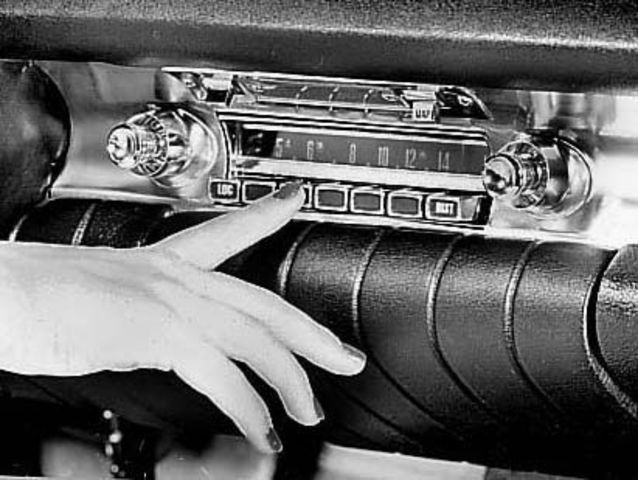 The car radio is introduced.
