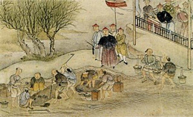 Lian Zexu Destroying Opium